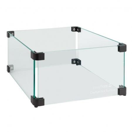 Glasombouw 30 cm x 30 cm met zwarte hoekverbindingen